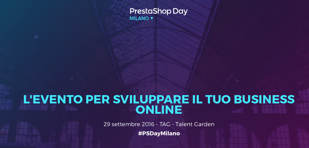 Visit us at the Prestashop Day in Milan!