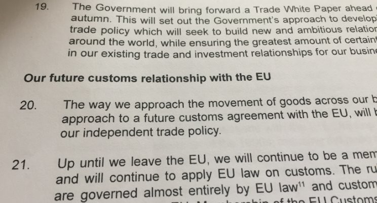 No Customs between the EU and the UK after Brexit?